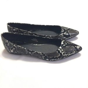 ASOS Black And Grey Snakeskin Ballet Flats